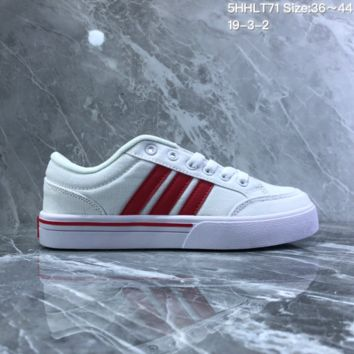 HCXX A734 Adidas NEO campus opens mouth to laugh canvas board shoe White Red