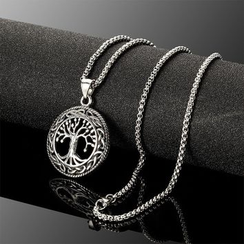 Chic Women 925 Sterling Silver Tree of Life Pendant Necklace Fashion Jewlery (Color: Silver)