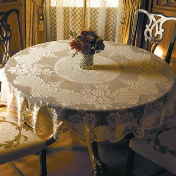 VICTORIAN ROSE TABLECLOTH - Round Lace Tablecloth