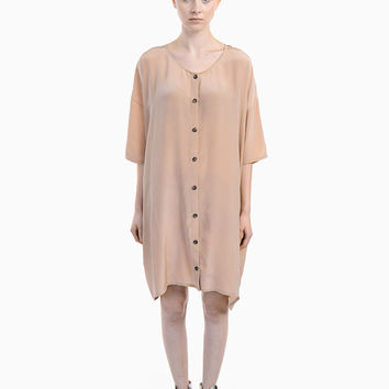 Crepe Silk Cardigan Dress
