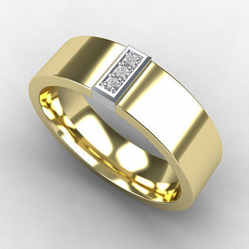 Yellow Gold, wedding band, mens diamond ring, men Gold band, wedding band, commitment ring, diamond, white gold, men ring