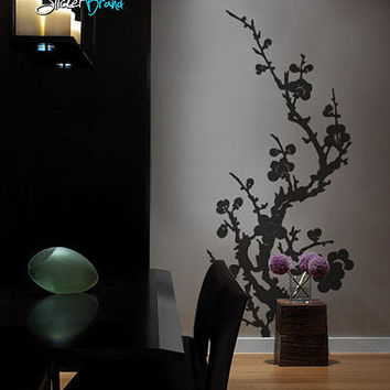 Vinyl Wall Decal Sticker Japanese Asian Flower #176