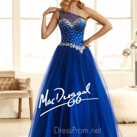 One Shoulder Corset Ball Gown by Mac Duggal 48100H