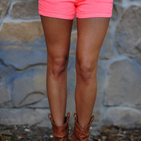 Glow In The Dark Shorts: Neon Pink | Hope's