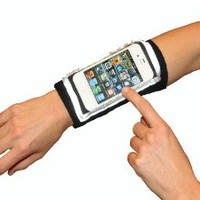 Armband iPhone SE, 5S, iPod touch - Full access touch screen, track, text. Multi-use forearm band for fitness, running, gym, daily activity, travel with zipper pocket.