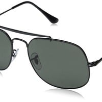 Ray-Ban Men's Steel Man Polarized Square Sunglasses, Black, 57 mm