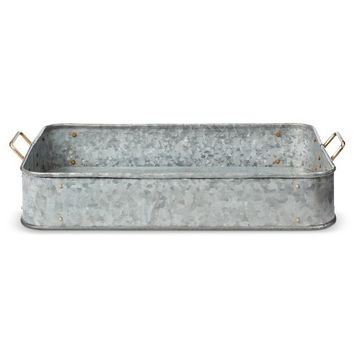 Smith & Hawken® Galvanized Decorative Tray