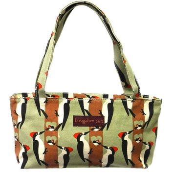 Bungalow360 Mini Vegan Cotton Bag NEW Woodpecker Design