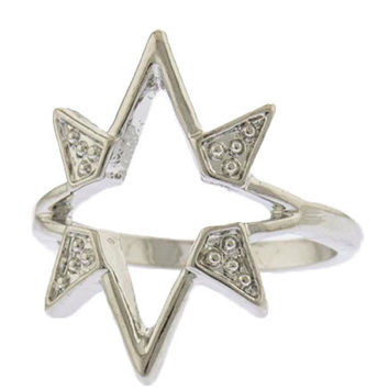 Shooting Star Knuckle Ring (Silver)