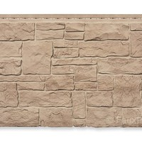 "Novi Stone Wall Moka Panel - W 45 3/8"" - H 20 1/2"" - 3/4"" Thick"