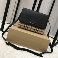 Burberry Vintage Checkleather Wallet with Detachable Strap