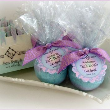 Sea Nymph Moisturizing Bath bomb by AbbeyJames on Etsy
