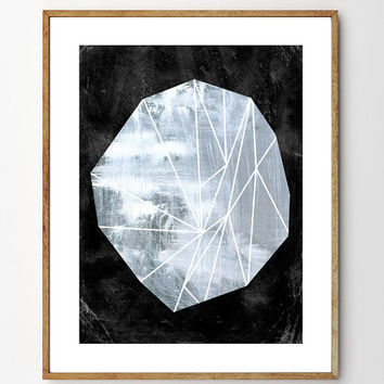 Ice Crystal - Archival Giclee Print, watercolor painting