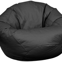 American Furniture Alliance Fun Factory Classic Bean Bag, Large, Black