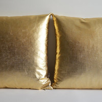 Sukan / 1 Pillow Covers Gold - large pillow - home exteriors pillow - gold decorative pillows - media rooms pillow