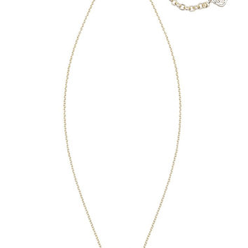 KENDRA SCOTT - Elisa Gold Pendant Necklace in Platinum Drusy