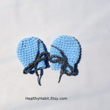 Baby Boy Mittens Crochet Thumbless on Etsy - MADE TO ORDER