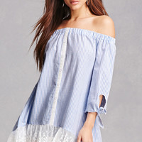 Striped Off-the-Shoulder Dress