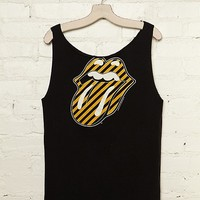 Free People Vintage Rolling Stones Yellow Stripe Logo Tee at Free People Clothing Boutique