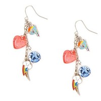 My Little Pony Rainbow Dash Charms Mismatched Drop Earrings | Claire's