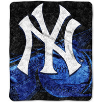 New York Yankees MLB Sherpa Throw (Big Stick Series) (50x60)