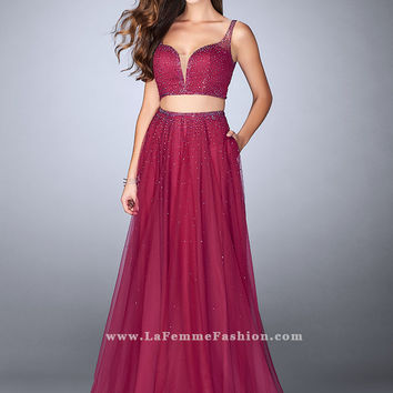 La Femme 24304 Two Piece Prom Dress