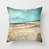 Tarifa beach at summer Throw Pillow by Guido Montañés
