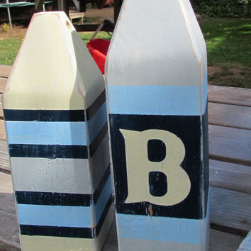 OOAK Reclaimed Wood Buoys. Set of 2 Buoys. Beach Decor. Lake Decor. Nautical Decor. Made to Order