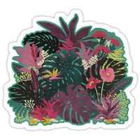 'Tropical Tendencies' Sticker by littleclyde