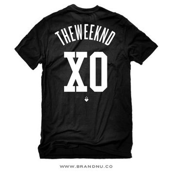 The Weeknd XO - Jersey Style Men's T-Shirt by BrandNuThreads | BrandNuThreads