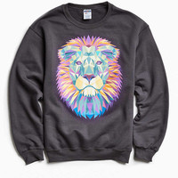 Lion Fleece Crew Neck Sweatshirt - Urban Outfitters