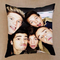 one direction photo collage selfie pillow case one side or two side