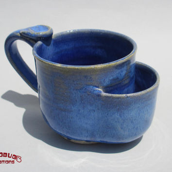 Teabag Mug - Blue on Blue