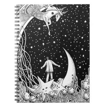 Fantasy starry sky notebook