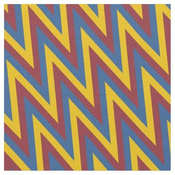 Tricolor Chevron Pattern Fabric