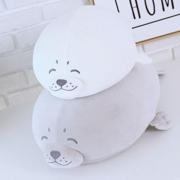 1pcs Cute Soft Animal Sea Lion Doll Baby Sleeping Pillow Marine Animals Seal Plush Toy Kids Stuffed Toys Gift