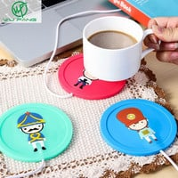 Cartoon creative silicone electric Insulation coaster USB warm cup heating device Office Coffee Tea Warmer Pad Mat