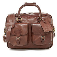 Polo Ralph Lauren Leather Commuter Bag - Brown