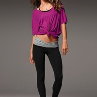 Yoga V-Front Legging & Off the Shoulder Tee - Victoria's Secret
