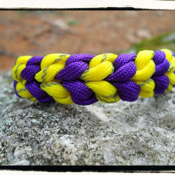 Reflective Yellow and Purple Survival Bracelet