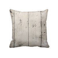 Distressed Wood Plank Throw Pillow from Zazzle.com