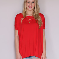 Piko Top Short Sleeve  - Red