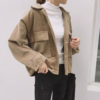 Corduroy Large Pocket Jacket