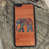 Boho Wood Elephant Phone Case