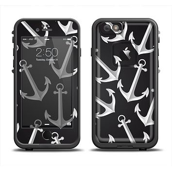 The Black Anchor Collage Apple iPhone 6 LifeProof Fre Case Skin Set