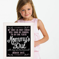 I'm going to be a big sister, Maternity Photo Prop, Big Sister Announcement, Baby Announcement, Big Brother, I'm going to be, Nursery Wall