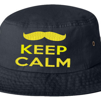 keep calm yello bucket hat