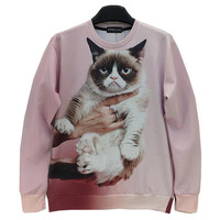 FG1509 [Mikeal] Animals printed Fashion 3d sweatshirt for men/women funny cute cat/panda/fox printed 3d hoodies Spring Autumn jacket