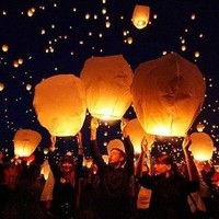Fire Sky Chinese Lanterns Christmas New Year Party Flying Balloon ‹(•¿•)›