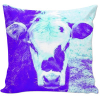 Cool Purple Cow pillow